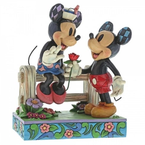 Disney Traditions Blossoming Romance Mickey & Minnie Mouse Figurine