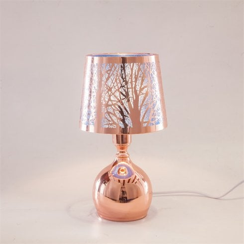 IEP Blue-Rose Gold Bulbus Shape Aroma Lamp