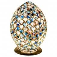 Blue Tile Mosaic Glass Egg Shaped Lamp LM74BLT