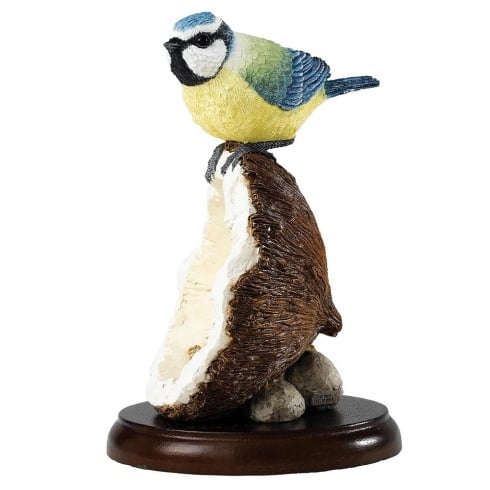 Border Fine Arts Blue Tit on Coconut Shell Figurine