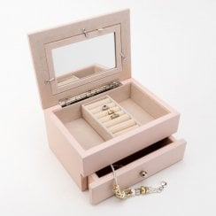 Blush Jewellery Box With Drawer & Photo Frame