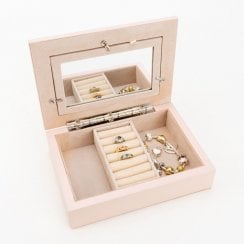 Blush Jewellery Box With Photo Frame