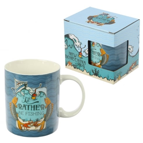 Puckator Bone China Mug Fishing Slogan