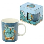 Bone China Mug Fishing Slogan