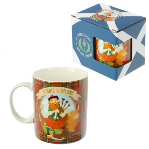 Puckator Bone China Mug Scottish Piper