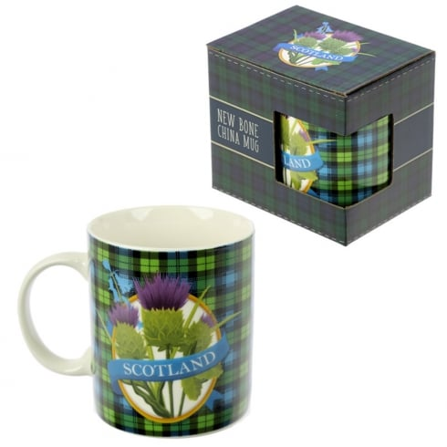 Puckator Bone China Mug Scottish Thistle