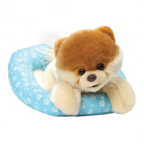 Gund Boo In A Bed Pomeranian Dog Soft Toy