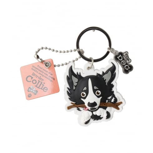 Wags & Whiskers Border Collie Keyring