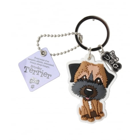Wags & Whiskers Border Terrier Keyring