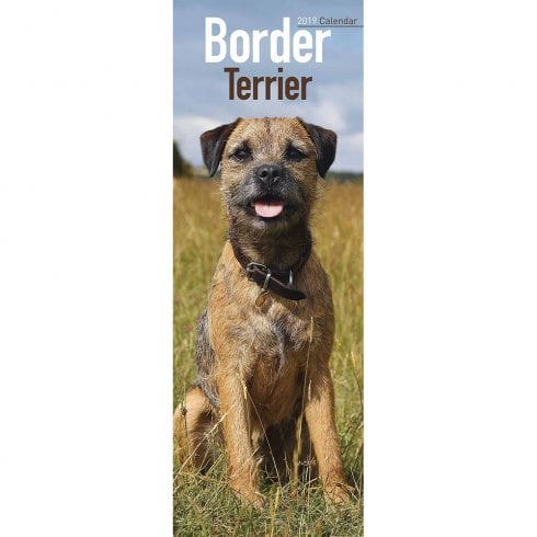 Border Terrier Slim Calendar 2019