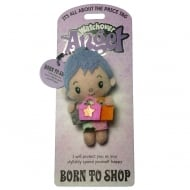 Born To Shop Angel Keyring