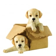 Boxed It Golden Labrador Pups Figurine
