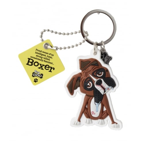 Wags & Whiskers Boxer Keyring