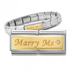 Bracelet with Double Gold Marry Me Link