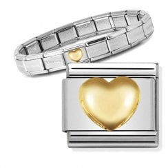 Bracelet with Gold Heart