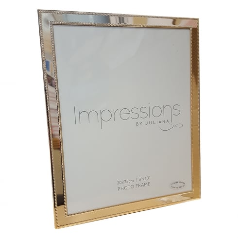 Impressions By Juliana Brass Finish Bead 8 x 10 Photo Frame