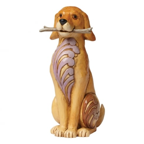 Jim Shore Heartwood Creek Brewster - Dog With Stick Figurine