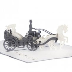 Brides Carriage Pop Up Card