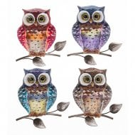 Bright Metallic Owl Small Plaque