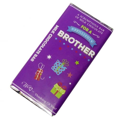 Words & Wishes Brilliant Brother Milk Chocolate Bar