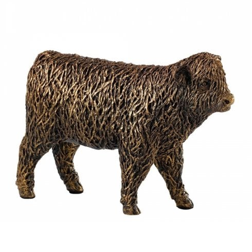 Border Fine Arts Bronzed Highland Calf Figurine