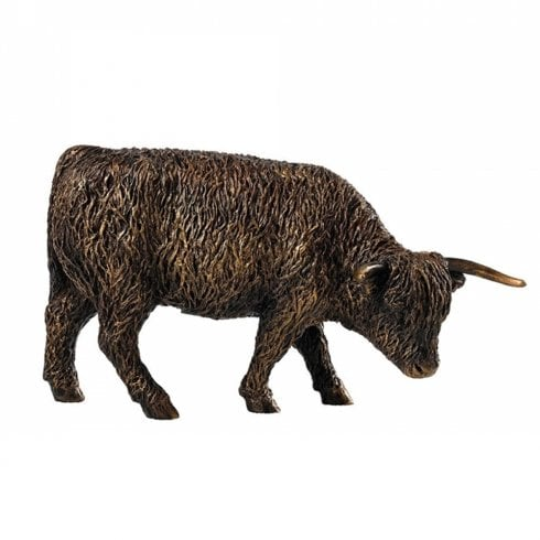 Border Fine Arts Bronzed Highland Cow Figurine