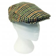 Brown Gingham Tartan Tweed Cap