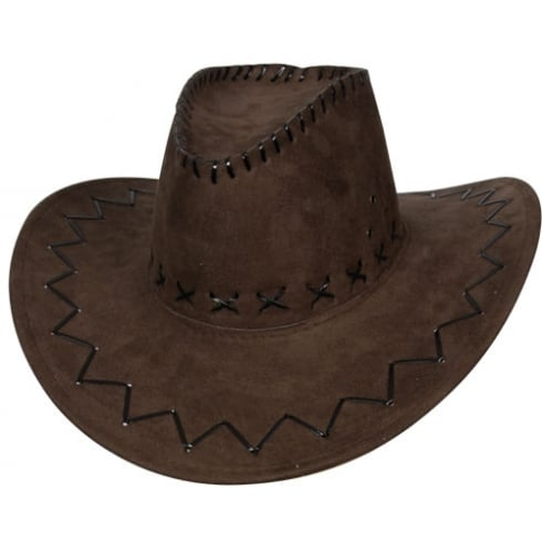 Wicked Costumes Brown Suede Cowboy Hat