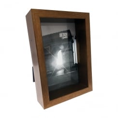 Brown Wood 4 X 6 Box Photo Frame