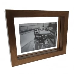 Brown Wood Open 6 x 4 Photo Frame