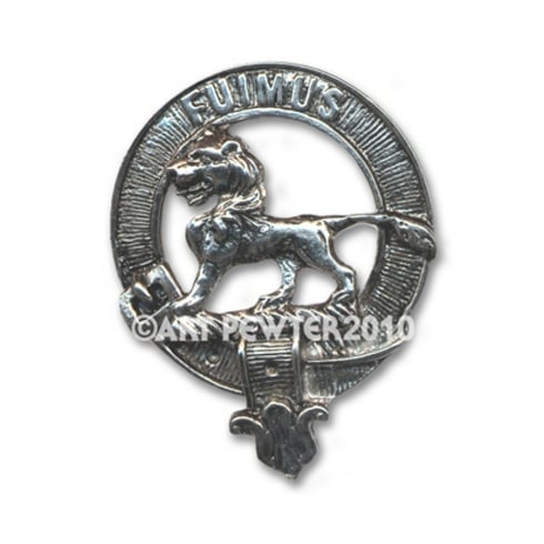Art Pewter Bruce Clan Crest Key Fob