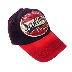 Bruce Scotland Cap Black/Red