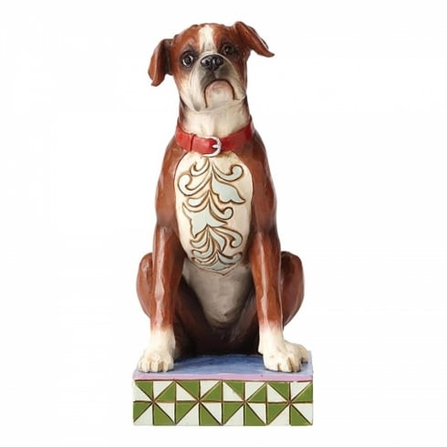 Jim Shore Heartwood Creek Bruno Boxer Dog Figurine