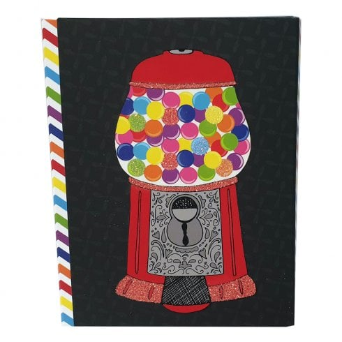 Pen & Paint Gifts Bubble Gum Machine Pocket Notepad & Pen