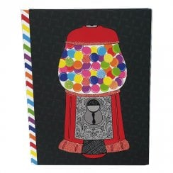 Bubble Gum Machine Pocket Notepad & Pen