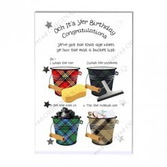 Bucket List Scottish Birthday Card