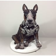 Bull Terrier Figurine - Tri-Colour