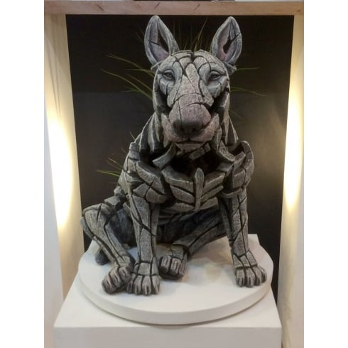 Edge Sculpture Bull Terrier Figurine - White