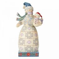 Bundled in Love Snowman with Snowbaby Figurine