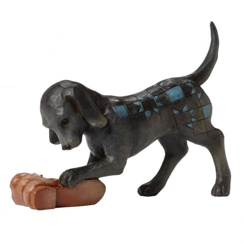 Buster - Dog With Shoe Figurine