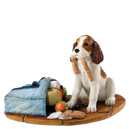 Border Fine Arts Butchers Choice Springer Spaniel Pup Figurine