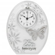 Butterfly 25th Anniversary Clock