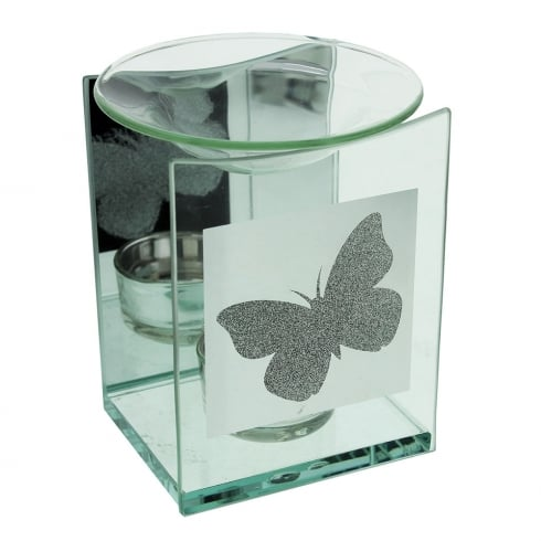 Hestia Butterfly Design Glass Fragrance Oil Burner