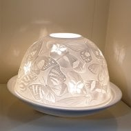 Butterfly Tealight Candle Shade & Tray