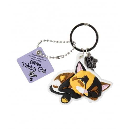 Wags & Whiskers Calico Cat Keyring
