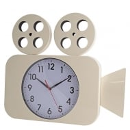 Camera Wall Clock Cream