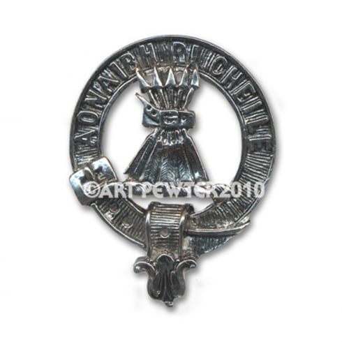 Art Pewter Cameron Clan Crest Key Fob