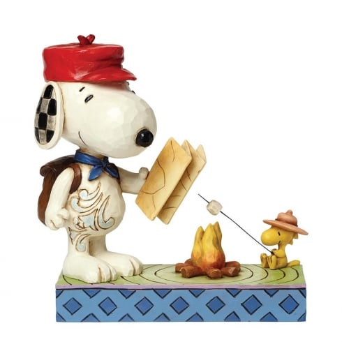 Jim Shore - Peanuts Campfire Friends Snoopy With Woodstock