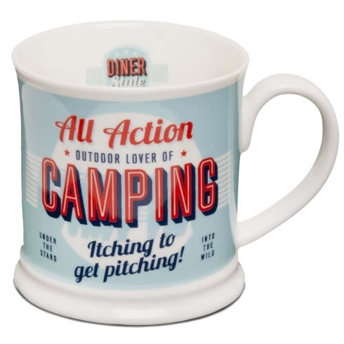 Diner Style Mugs Camping