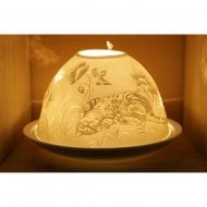 Candle Shade and Plate - Cat & Butterfly